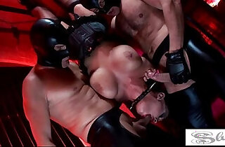 Hot fetish fucking with big titted cunts Kerry Louise and Elle Brook