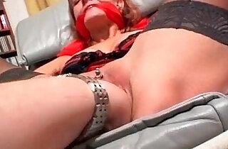 Tied up slut gets badly drilled in her