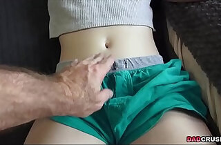 Naughty Bonnie Grey pounded hard by his dad