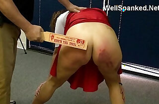 Cheerleader Paddling Spanked and Analized at the Reform School