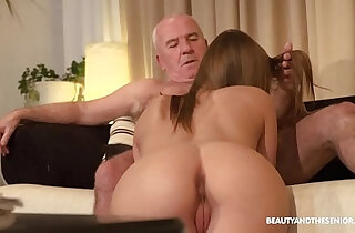 Old farmer gets her horny and fucks his hot niece