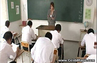 Japanese teacher fucked by her students