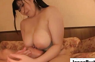 Hot fatty japanese slut gives head