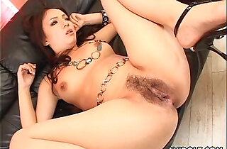 Hairy pussy Asian nailed hard