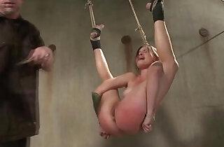 Tied bdsm bondage bitch caned