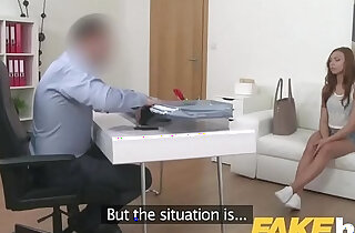 Fake Agent Shy European amateur seduced by casting agents cock