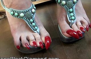 Penelope Black Diamond Footlick Footjob and Blowjob Milk Preview