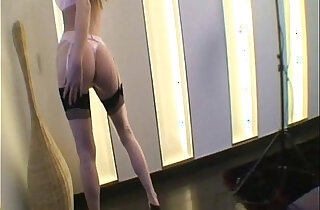 Gitta Blond With her Pink Stockings