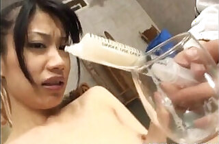Miki uehara gets sex toys and syringe with cum