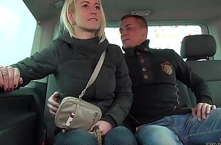 Cheating horny wife sucks and fucks a stranger in traffic Mea Melone record it
