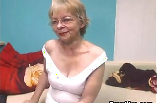 Naughty Grandma Strips in top teased videos