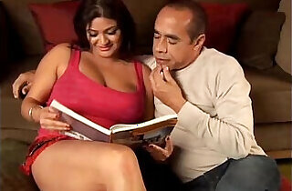 Beautiful big tits brunette babe Mimi loves the taste of cum