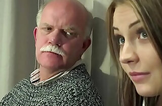Old Young Teen Gangbang by Grandpas pussy fingering gagging