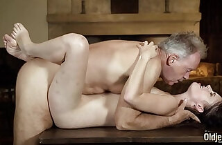 Old english teacher has sex with sexy young student and gets blowjob