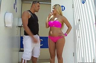 Big Ass Blonde Banging Outside