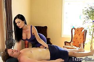 Huge tittied babe anally fucked