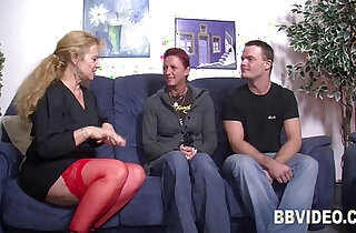 German couple fucking my ass with a milf in threesome