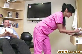 CFNM nurse Persia Pele gets facial